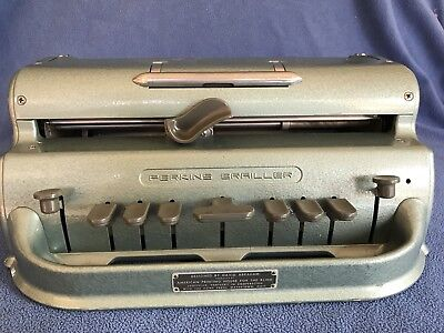 Perkins Brailler~David Abraham~Vintage~School For  Blind~Braille Machine~ Green