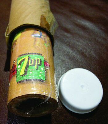 """Vintage 7 Up 7up Gift Wrapping Paper """"Fresh Up"""" """"Sip it - taste it"""" Roll  RARE"""