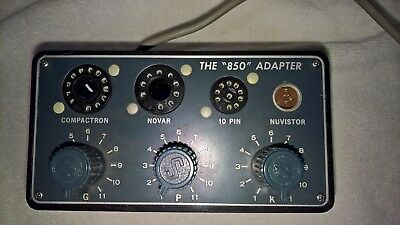 Excellent vintage radio tube tester adapter for Superior Instrument Co. Model 85