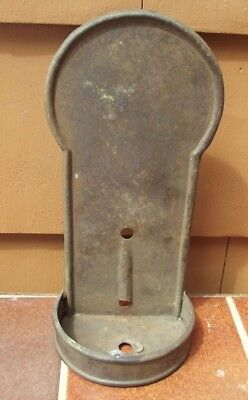 Antique Wall Sconce  Candle Holder Metal Tin thicker gauge