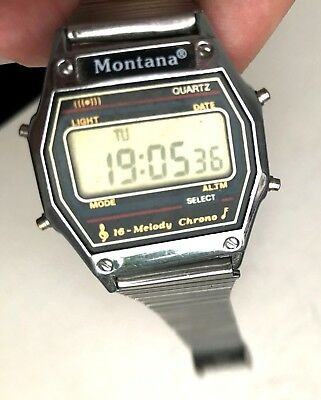Watch Quartz 16 Melody USA Montana Original Complect Pricise All melodies