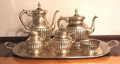 Vintage Linda Taxco Mexican Sterling Silver 6 Piece Tea / Coffee Set, MM 120