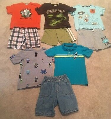 Boys Size 5 6 Spring Summer Shorts Shirts Name Brand Clothing Lot
