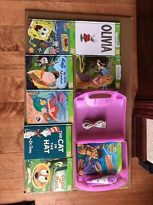 Leap Frog Tag Reader Pen, 8 books, USB Cable, Carrying Case