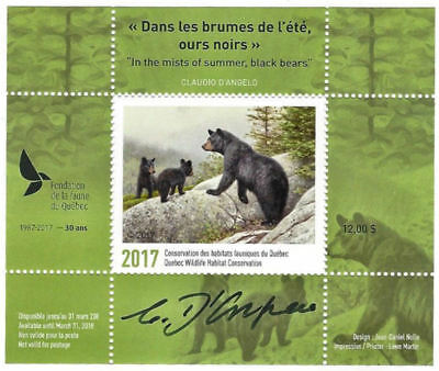2017 Canada Quebec  Wildlife Habitat Conservation  -DQ84s   signed   Mint NH