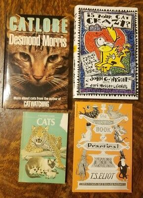 Lot #2 of Four CAT-themed Books - For Cat People!