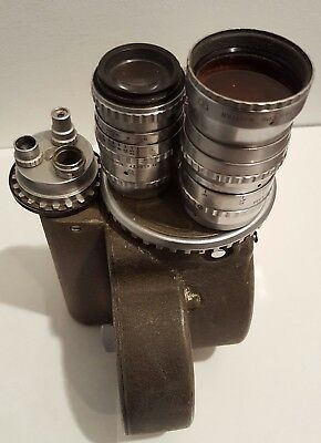 """Bell & Howell 16mm Great Condition No Scratches on lenses. 1"""", 2"""", 3"""" Very Clean"""