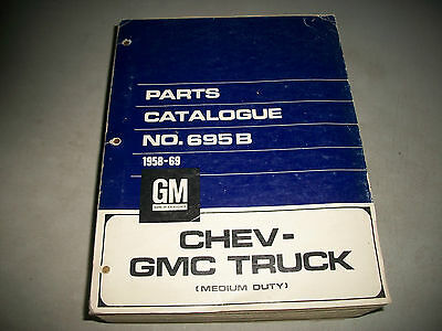 Original 1958-1968 Chevrolet & Gmc Medium Duty Trucks Master Parts Catalog Clean