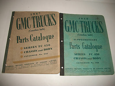 1947-1948 Gmc Truck Fc 450 Chassis & Cab Parts Catalog Canadian Built