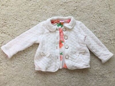 TED BAKER Baby Girls 9-12 Months White Jacket Coat Floral SUMMER WEDDING