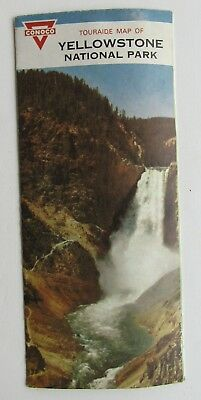 Conoco Tourguide  Road Map Of Yellowstone Nationlal Park 1963