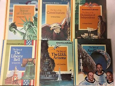 Price Reduced! Lot Of 6 Weekly Reader Cornerstones Of Freedom Hardcover Books