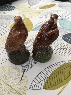 2 BESWICK Eagle shaped ceramic  Scotch containers J G Jongue 1969 &1981