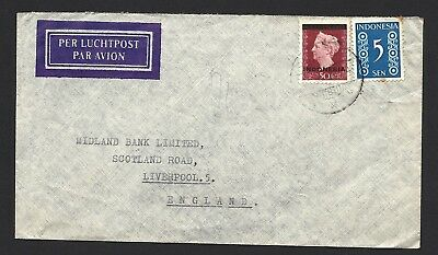 1949 Indonesia Air Mail Cover To Liverpool