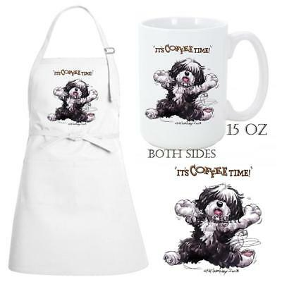 Havanese Dog Breed Coffee Time Kitchen Chef Apron & Ceramic Mug Gift Set