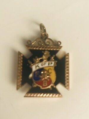 Knights of Pythias FCB Antique with Skull  Fraternal Pendant
