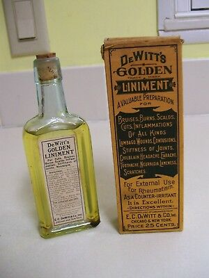 DeWitt's Golden Liniment, Great Condition, Unopened,  Made in Chicago