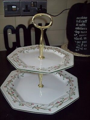 Eternal Beau 2 Tier Cake Stand With Original Box - Immaculate Condition
