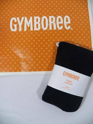 ~Gymboree~ Girls Size XS 4 RIGHT MEOW Black Textured Tights New