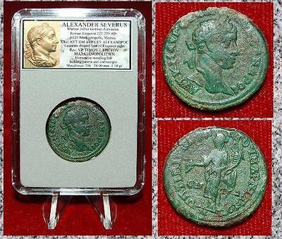 Ancient Coin ALEXANDER SEVERUS Bronze Homonoia on Reverse Beautiful Coin!