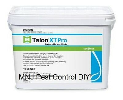 TALON XT PRO Wax Blocks  Rodent Bait  Rat Mice Bait Poison Single dose feed 1KG