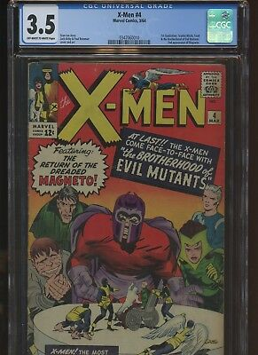 X-Men 4 CGC 3.5 | Marvel 1964 | 1st Quicksilver Scarlet Witch Toad & More