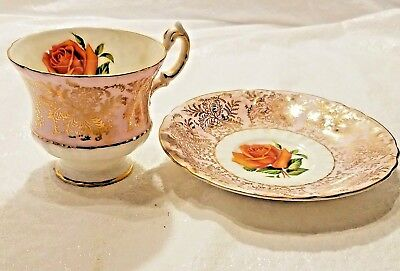VTG PARAGON FINE BONE CHINA TEACUP & SAUCER SET by Appt. to H.M. THE QUEEN