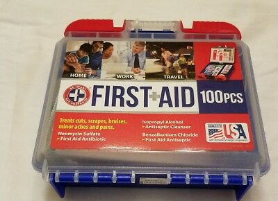 100 pcs First Aid Kit Treat Protect Home Office Vehicle Camping Sports Health