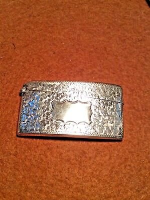 1908 Curved Hallmarked Sterling Silver Business Card Case