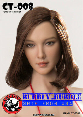 1//6 Scale Female Head Sculpt CT008B américain pour PHICEN Hot Toys figure U.S.A.