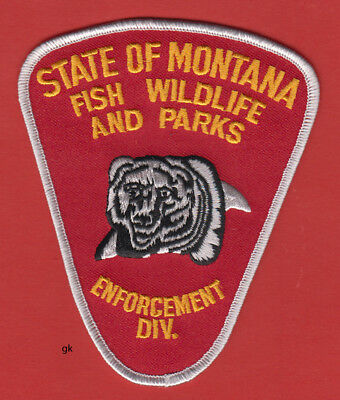 Montana Fish Wildlife And Parks Enforcement Police Shoulder Patch
