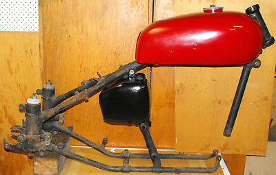 Vintage plunger Ariel rolling chassis circa 1951
