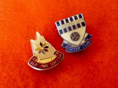 PAIR Soccer FOOTBALL Club Collector Badges REDCLIFFE SC, Queensland ...FREE Post
