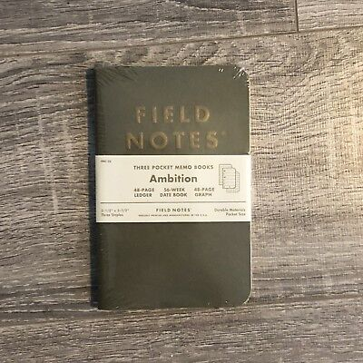 Field Notes FNC-25 Ambition - Unopened 3-pack - Sold Out Limited Edition