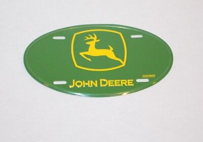 Oval John Deere License Plate Tag Brand New Never Used