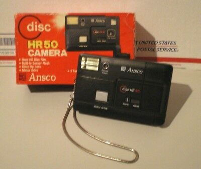 Vintage ANSCO HR50 DISC CAMERA with Original Box - Estate Find - Free Shipping..