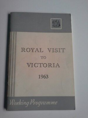 Royal Visit of Queen Elizabeth, Victoria 1963 Working Programme for 2-day visit