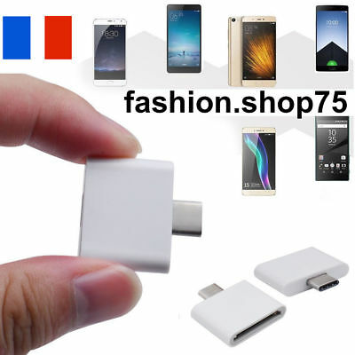 Adaptateur Chargeur 30 Pin iPHONE 4 Vers Micro USB SAMSUNG HTC NOKIA