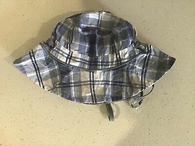 Baby Toddler Boy Size S Toshi Sun Hat Adjustable Band For Snug Fit