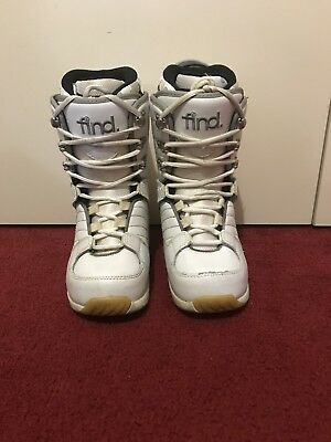 FIND White Snow Board Boots Size 6US Womens