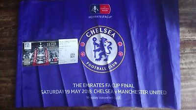 FA Cup Final Ticket and Flag 2018