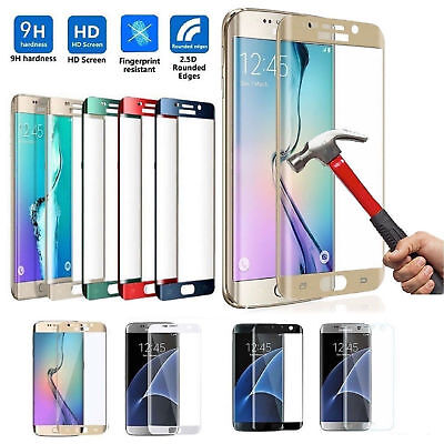 Verre Trempé Vitre Protection  Galaxy S7 EDGE 3D intégrale Tempered Glass NEUF