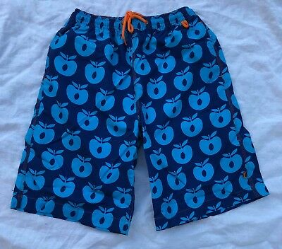 SMAFOLK - Blue Apple Board Shorts - Size 9-10 - NEW