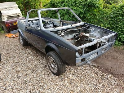 Volkswagen Golf mk1 cabriolet cabby cab rolling shell 1990