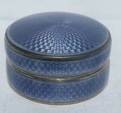SUPER ANTIQUE ENGLISH SILVER & ENAMEL PILL BOX   c.1923