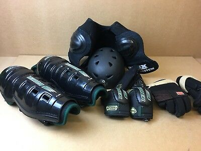 Bauer In Line Skates Roller Hockey Pads Body Amour Roller Blades