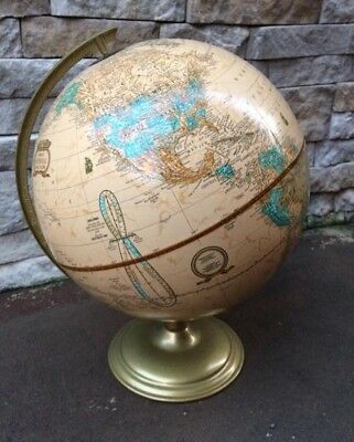 Cram's World Globe / Imperial / 16 Inch Tall / Made In USA