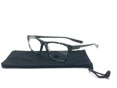 Nike Men Gray Rectangular New Eyeglasses 7230 060 52 Plastic 6329e5cc68ba9