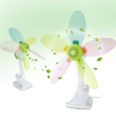 Powerful Electric colorful Fan Home/Student Dorm Bed Clip Fan Mute Natural Wind