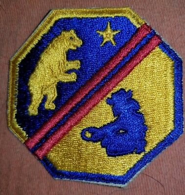 WWII US Army California State National Guard Defense Force Patch